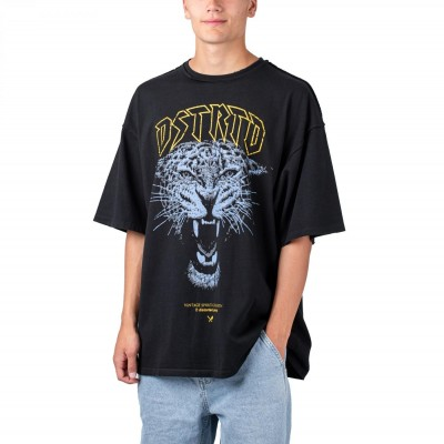 Distorted People Vintage Panther Oversized Tee